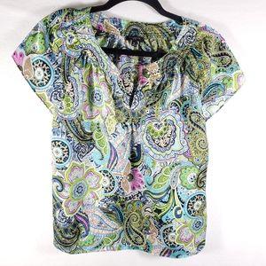 Talbots Petites Womens Top Blouse Shirt Sz 6P